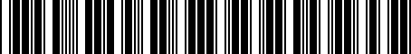 Barcode for 5G9071151A