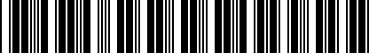 Barcode for DRG000984