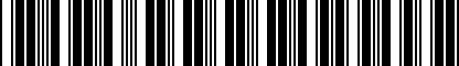 Barcode for DRG000989