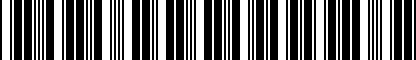 Barcode for DRG002983