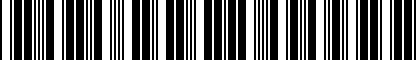Barcode for DRG003927